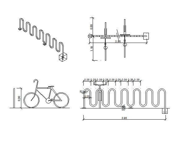 Bike Rack Elevation View Google Search Bike Storage