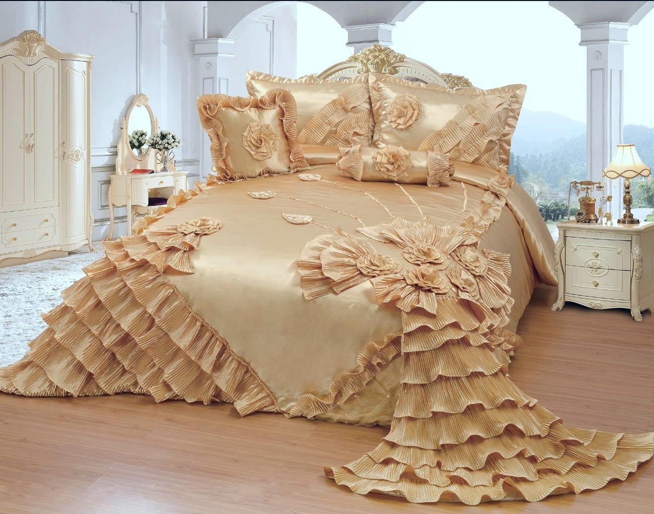 Octorose Royalty Oversize Wedding Birthday Bedding Bedspread Comforter Set Full Queen Standard Size Walmart Com Bedspreads Comforters Comforter Sets Wedding Bed Bedspreads and comforter sets