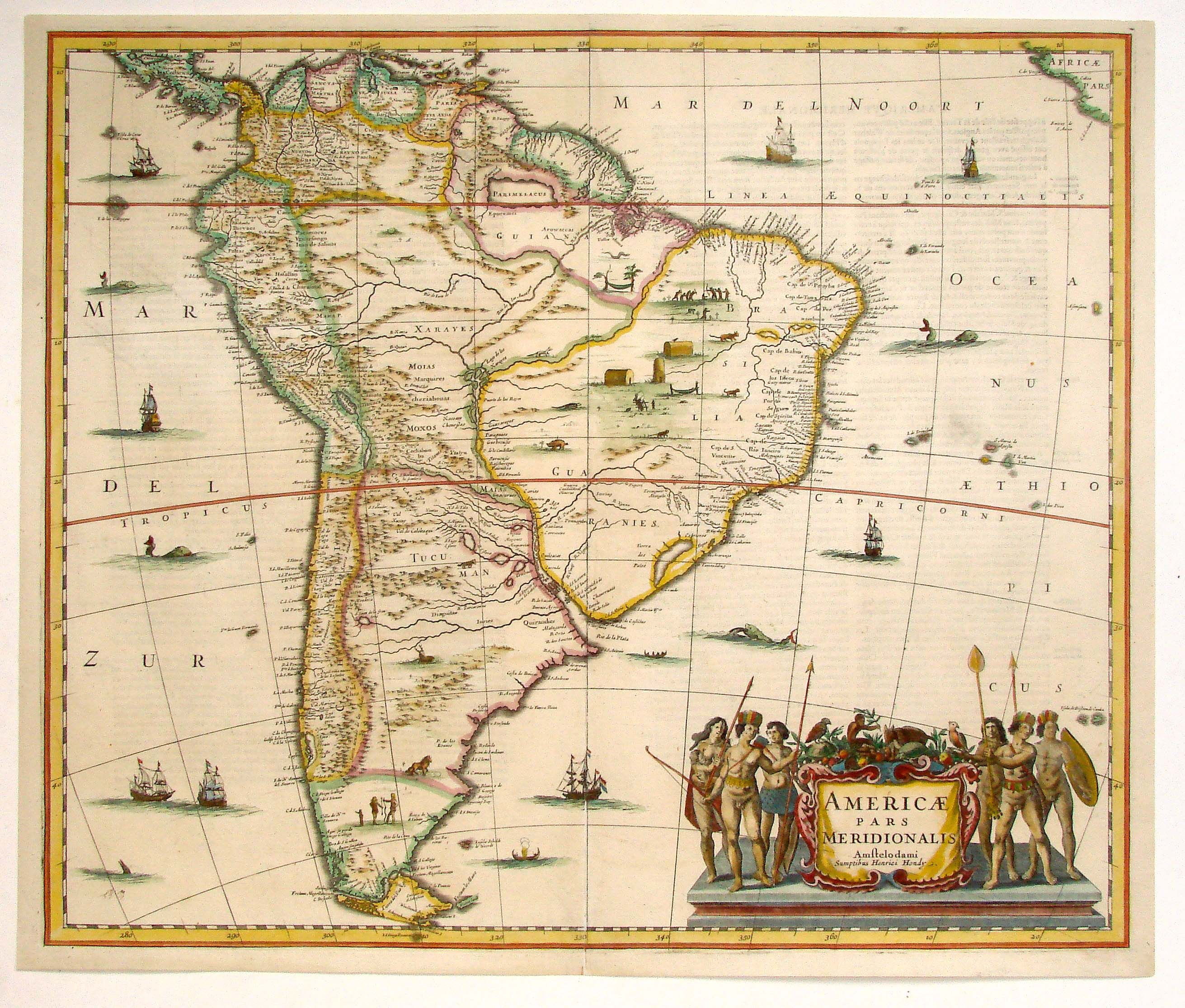 antique map janssonius south america. antique map janssonius south america  imágenes tatuaje