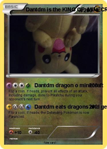 Pokemon Dantdm is the KING OF  MINECRAFT !!!!!