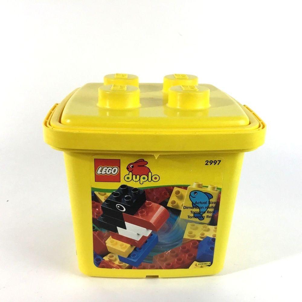 Lego Duplo 2997 Yellow Bucket Building Blocks Set 40 Pc Lego Ebay