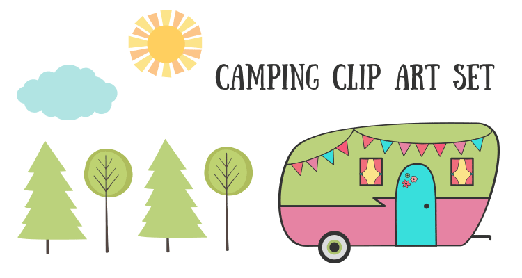 Royalty Free Images Camping Clip Art Set Camping Clipart Free Clip Art Retro Camping