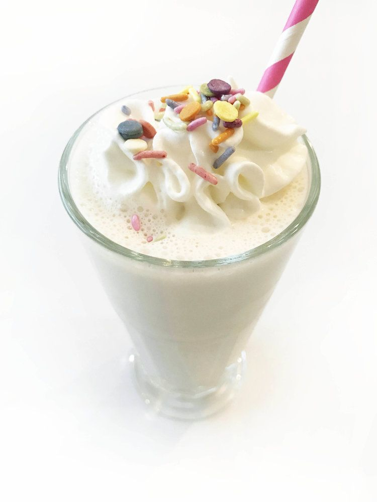 Excellent Image Of Birthday Cake Shake Batter Protein The Skinny Fork