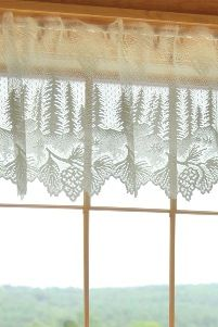 Pinecone Lace Curtains, Cabin and Lodge Decor Curtains ...