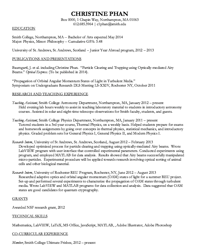 Nsf resume template