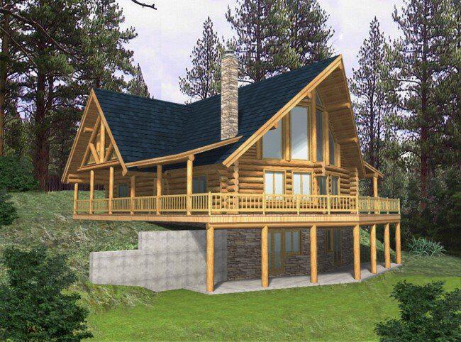 3 Bedroom, 3 Bath Cabin Lodge House Plan - #ALP-04Z7 - Allplans ...