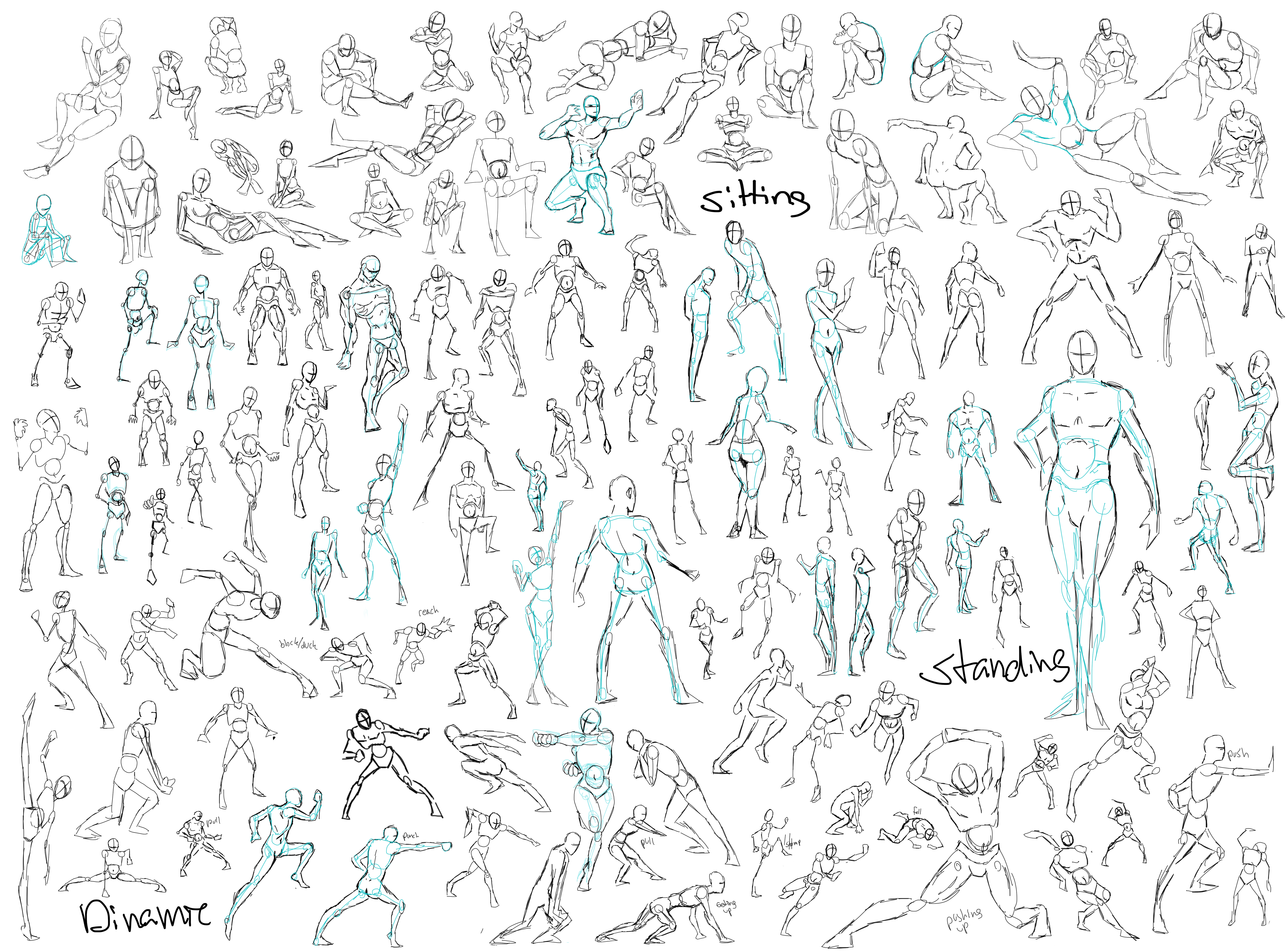 Poses For Ur Drawing Needs This Doesnt Have Every Thing But Its Got Poses  For Talking Poses Of Sitting, Standing, Running, Fighting, I Hope Its  Helpful