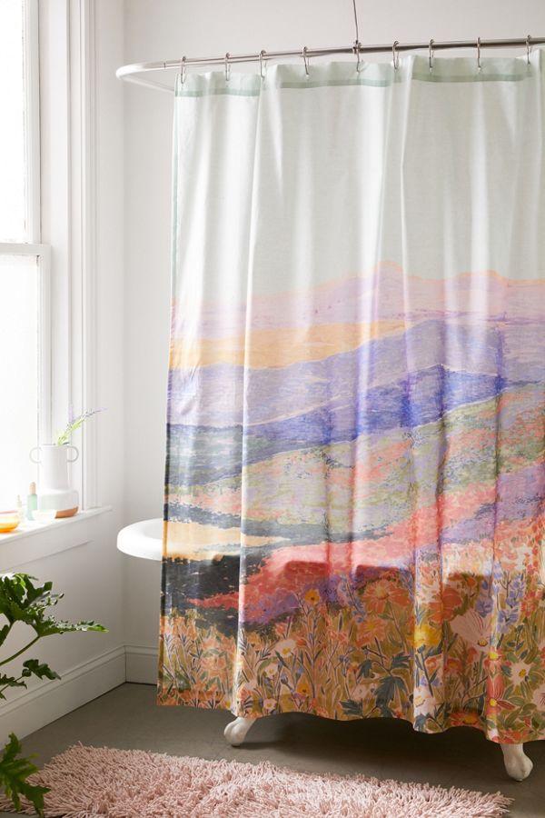 Superbloom Shower Curtain In 2020 Cotton Shower Curtain