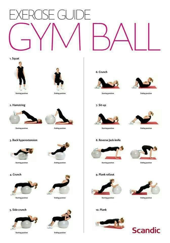 nice Exercise ball-don't forget to use this!...