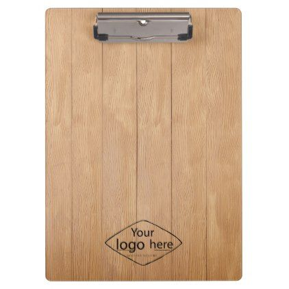 Bürobedarf logo  Custom logo wooden texture clipboard