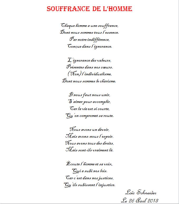37 Souffrance De Lhomme Poeme Poesie Ignorance Et