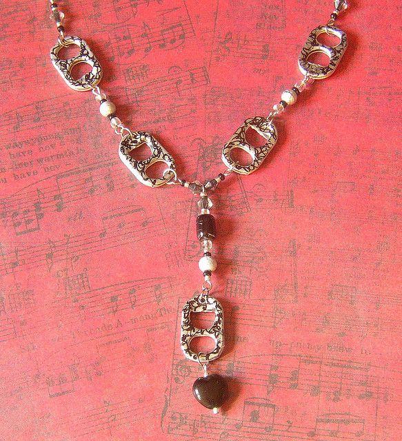 Soda Tab Necklace | Black/Silver Pop Tab Necklace | Flickr - Photo Sharing!