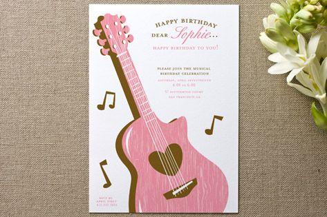 musical Childrenu0027s Birthday Party birthday party ideas Pinterest - fresh birthday party invitation designs