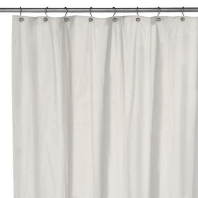 Eco Soft White Extra Large Shower Curtain Liner - BedBathandBeyond ...