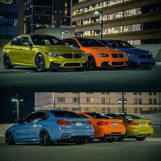 Bmw F80 E92 M3 Trio Yellow Orange Blue Autos Metas