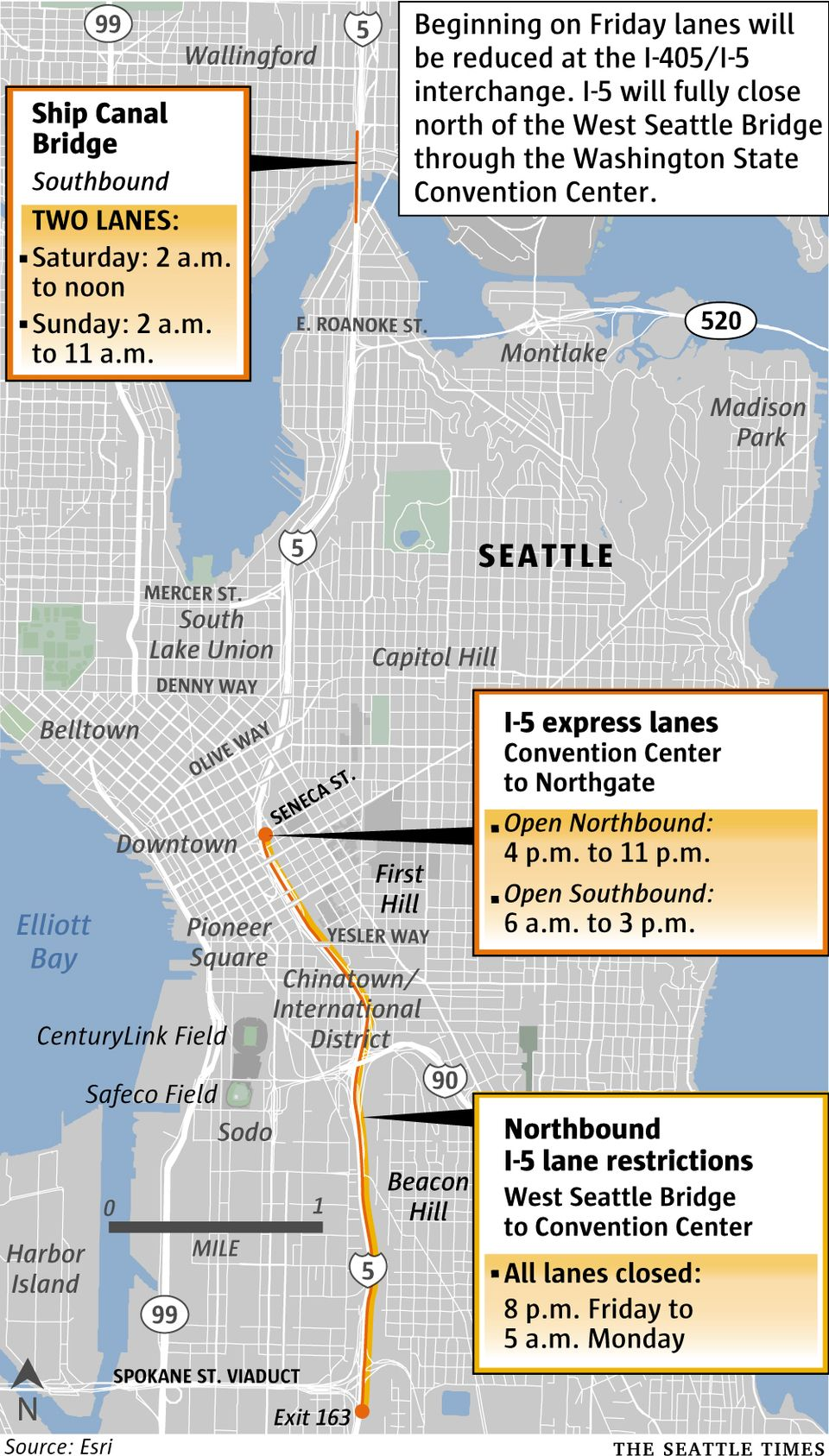 Brace yourself Portions of I 5 will fully close this weekend