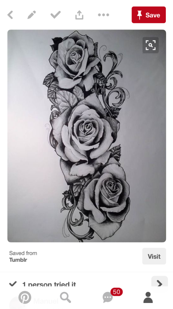 3 Roses On Forearm Tattoo