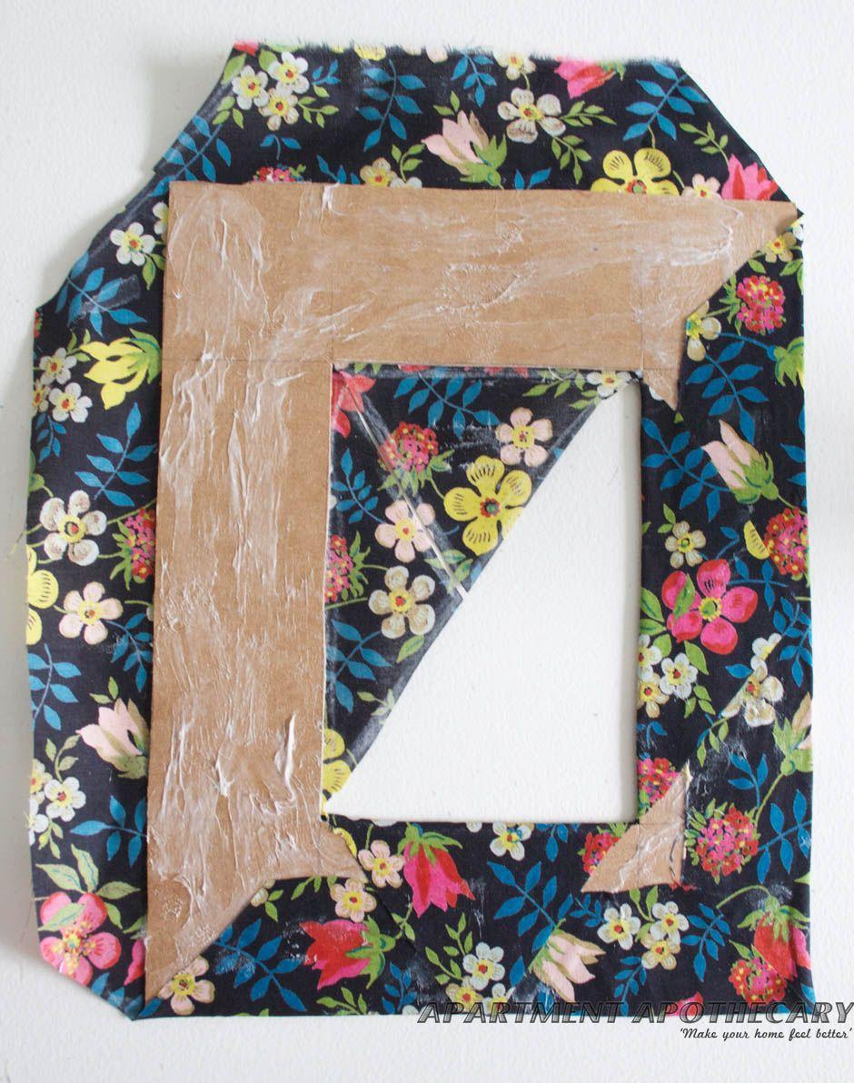 How to make a fabric covered photo frame Diy photo frame