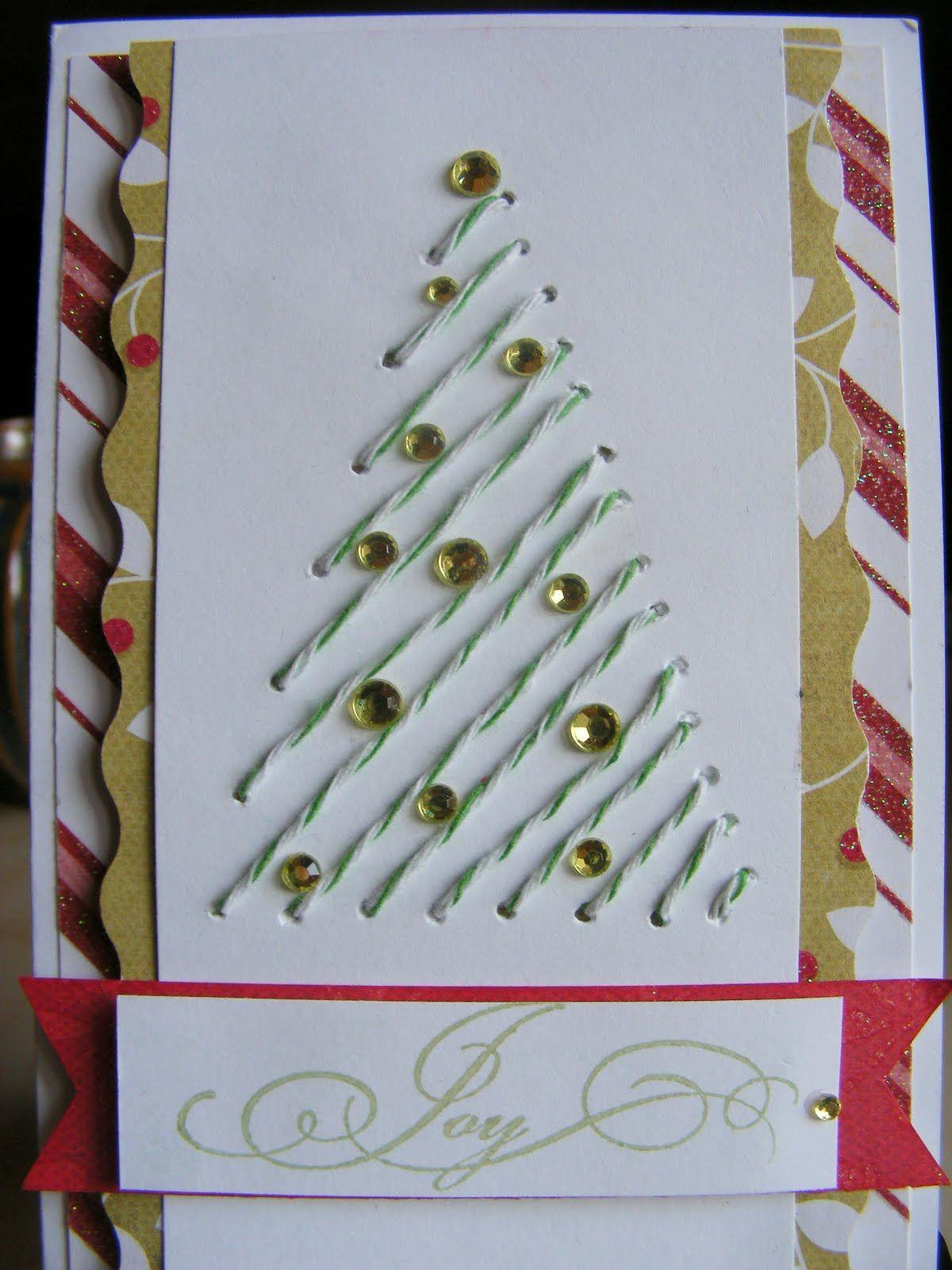 Vánoční přání vyšívání vánoce pinterest bakers twine twine