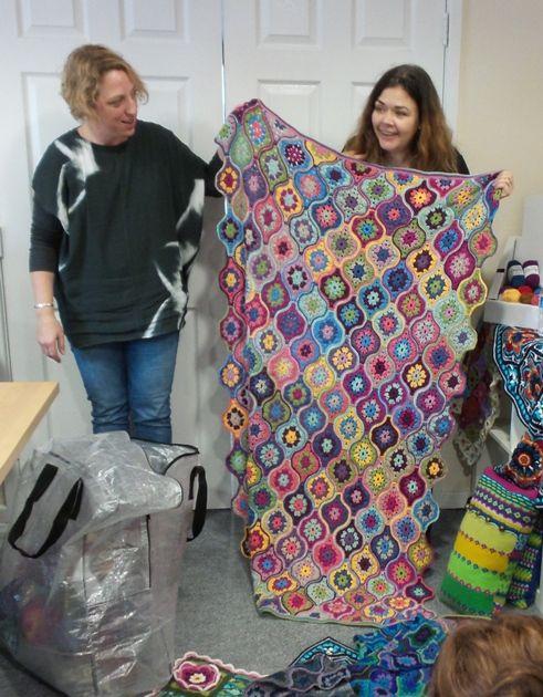 Jane Crowfoot\'s amazing mystical lantern blanket in Stylecraft Life ...