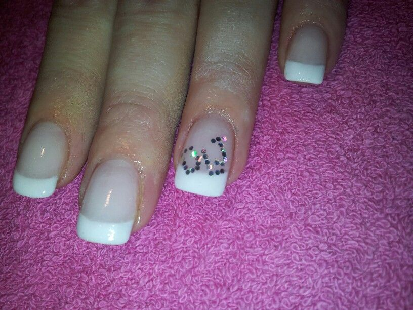 French acrylic nails with initials by lydia nail art i like french acrylic nails with initials by lydia prinsesfo Gallery
