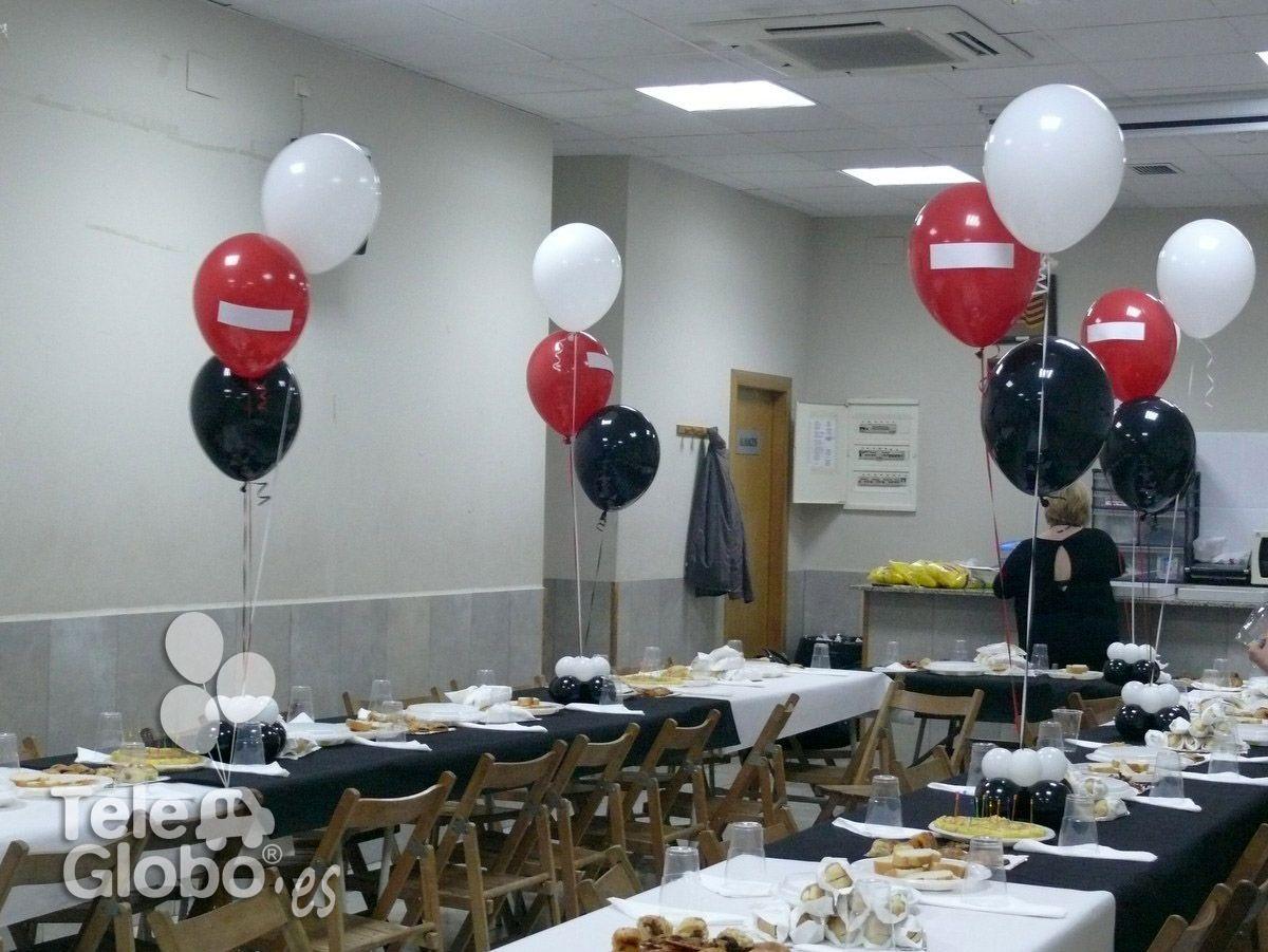 Centros de mesa de globo para 30 cumplea os decoraciones - Mesa cumpleanos adulto ...