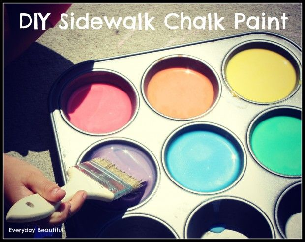 Diy Sidewalk Chalk Paint- easy and free summer activity!
