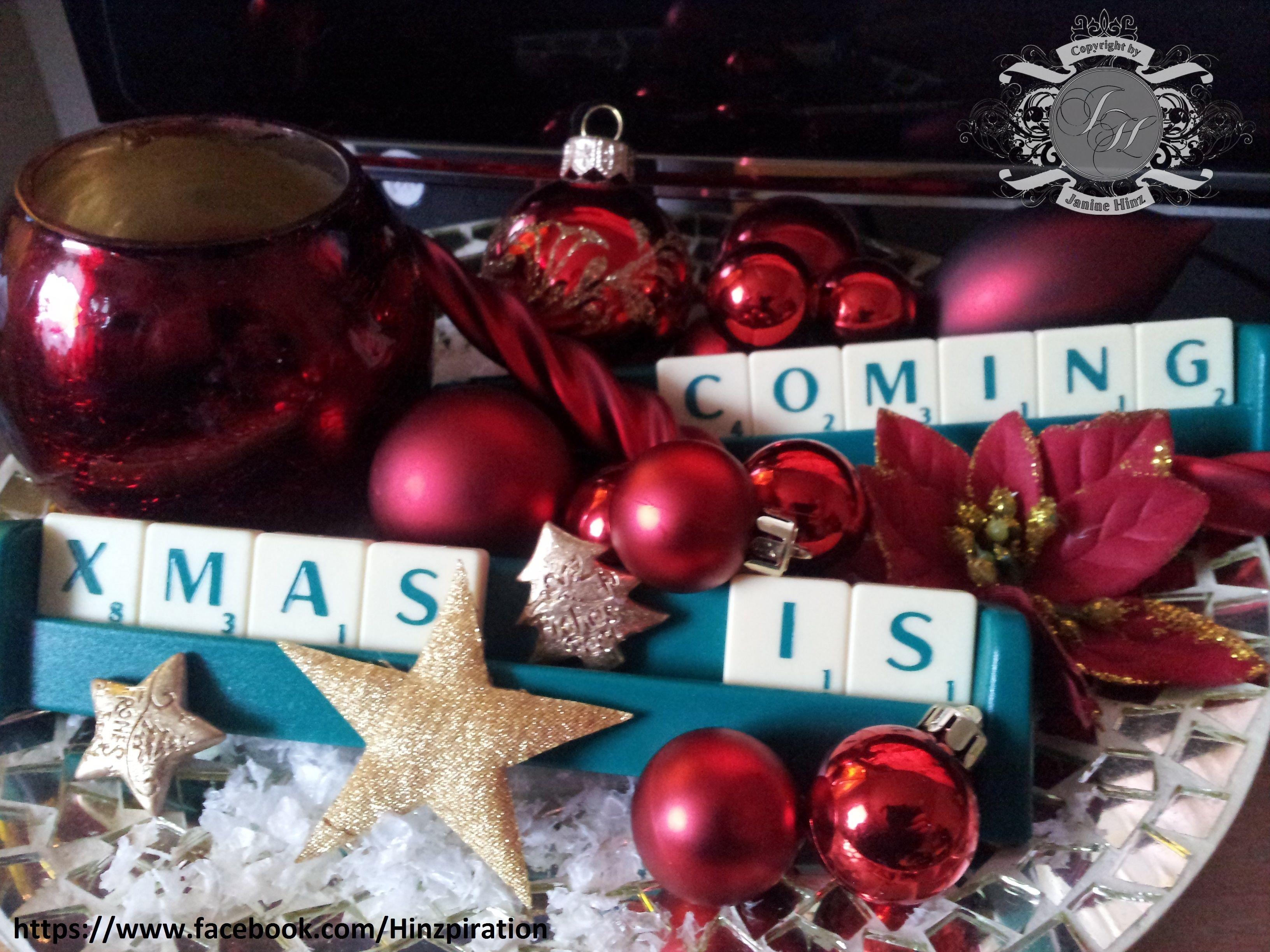 Wohnideen Weihnachtsdeko weihnachten 2013 idee mit den scrabble buchstaben http