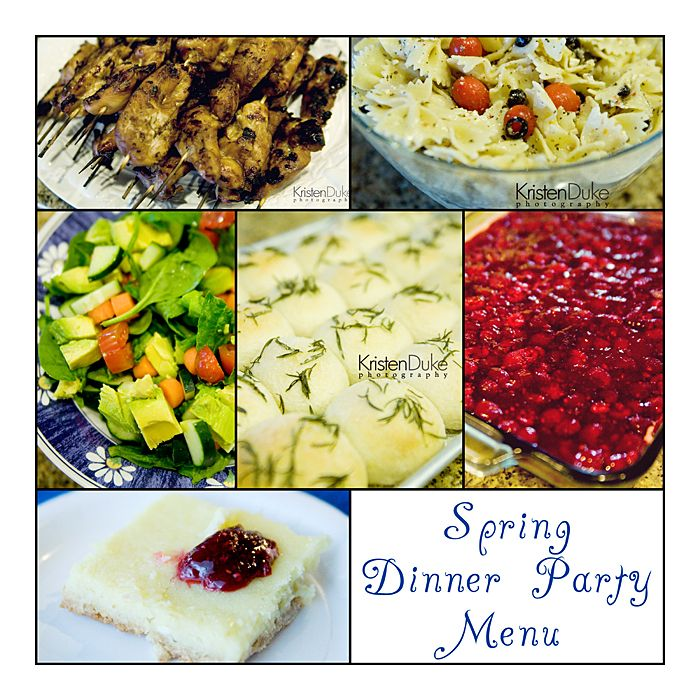 Good Spring Dinner Party Menu Ideas Part - 1: Spring Dinner Party Menu