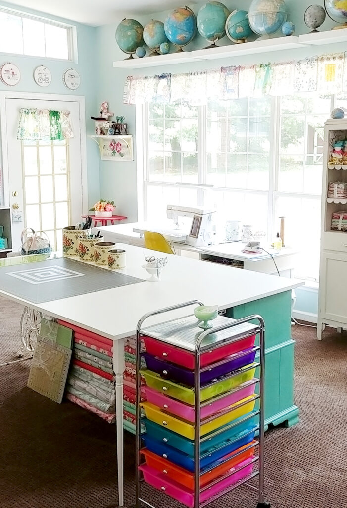 Sewing Room Studio Reveal Sewing Room Sewing Rooms Quilting Room