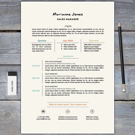 Chic Resume And Cover Letter Template For Word  Cv Template
