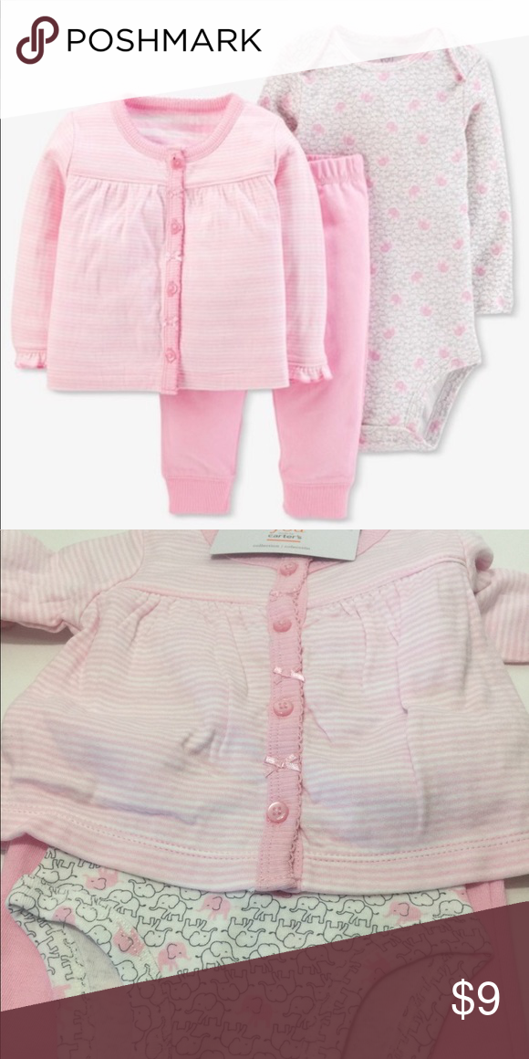 1c6c775677b Just One You Baby Girls 3 Piece Set Just One You made by Carter s Pink Baby