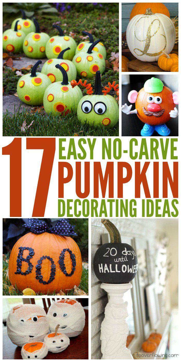 17 Creative No Carve Pumpkin Decorating Ideas Pumpkin Decorating