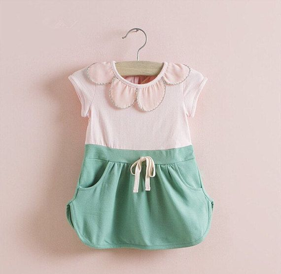 Scallop draw string dress baby/toddler sizes by HarpersChicCloset ...