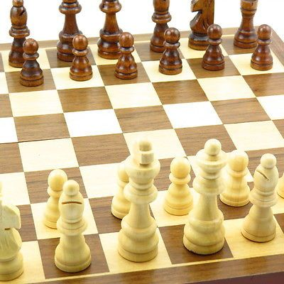 #Chess, 12-inch foldable #carved wooden chessboard, chess pieces in #solid wooden,  View more on the LINK: 	http://www.zeppy.io/product/gb/2/331213296009/