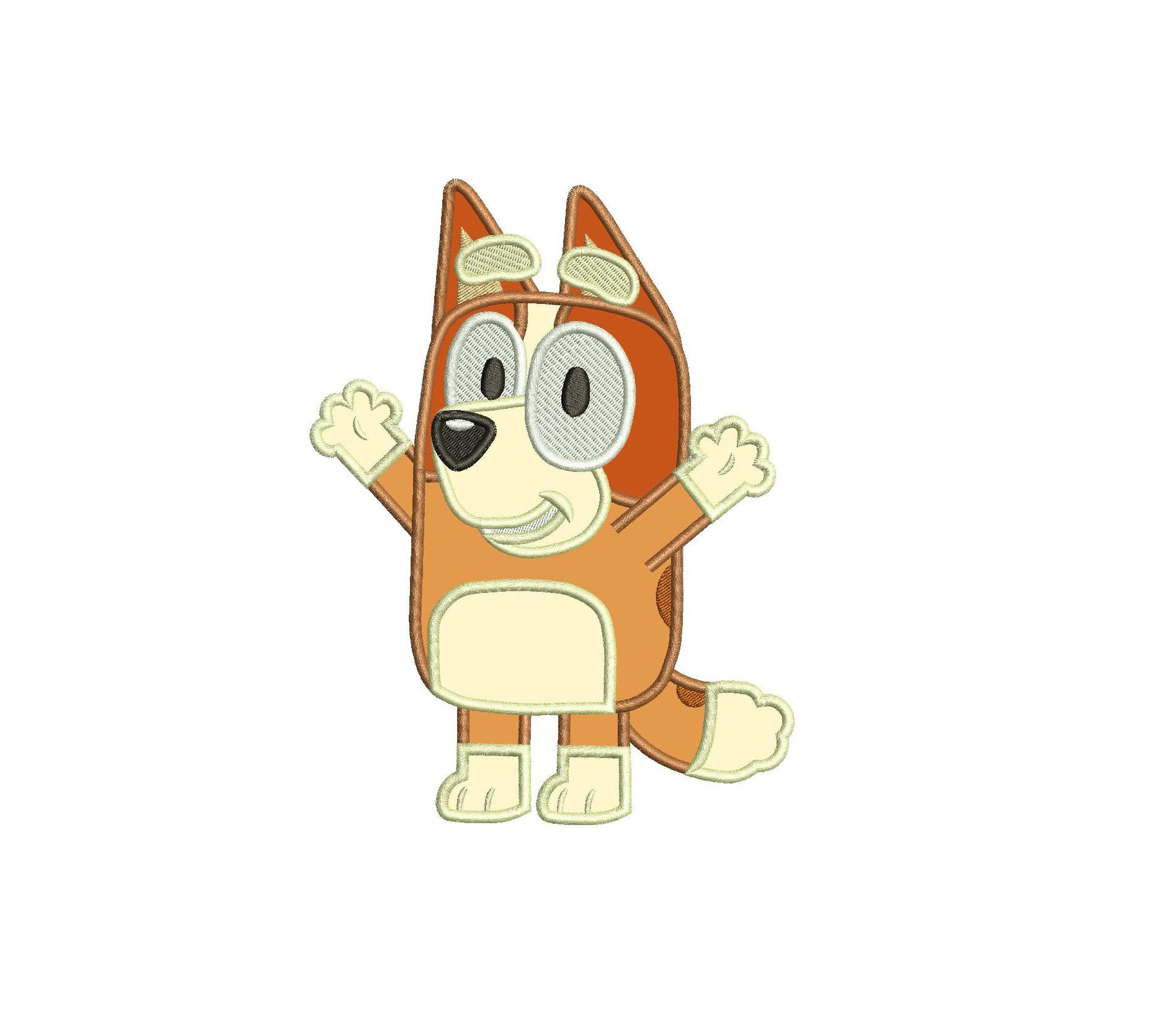 Bingo The Sister From Bluey The Dog Applique Design Applique Designs Applique Design