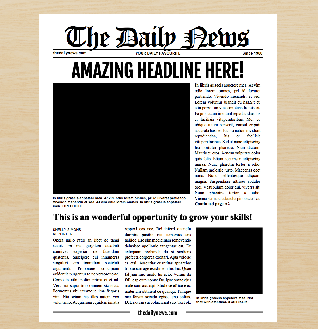 4 Page Newspaper Template Microsoft Word 8 5x11 Inch
