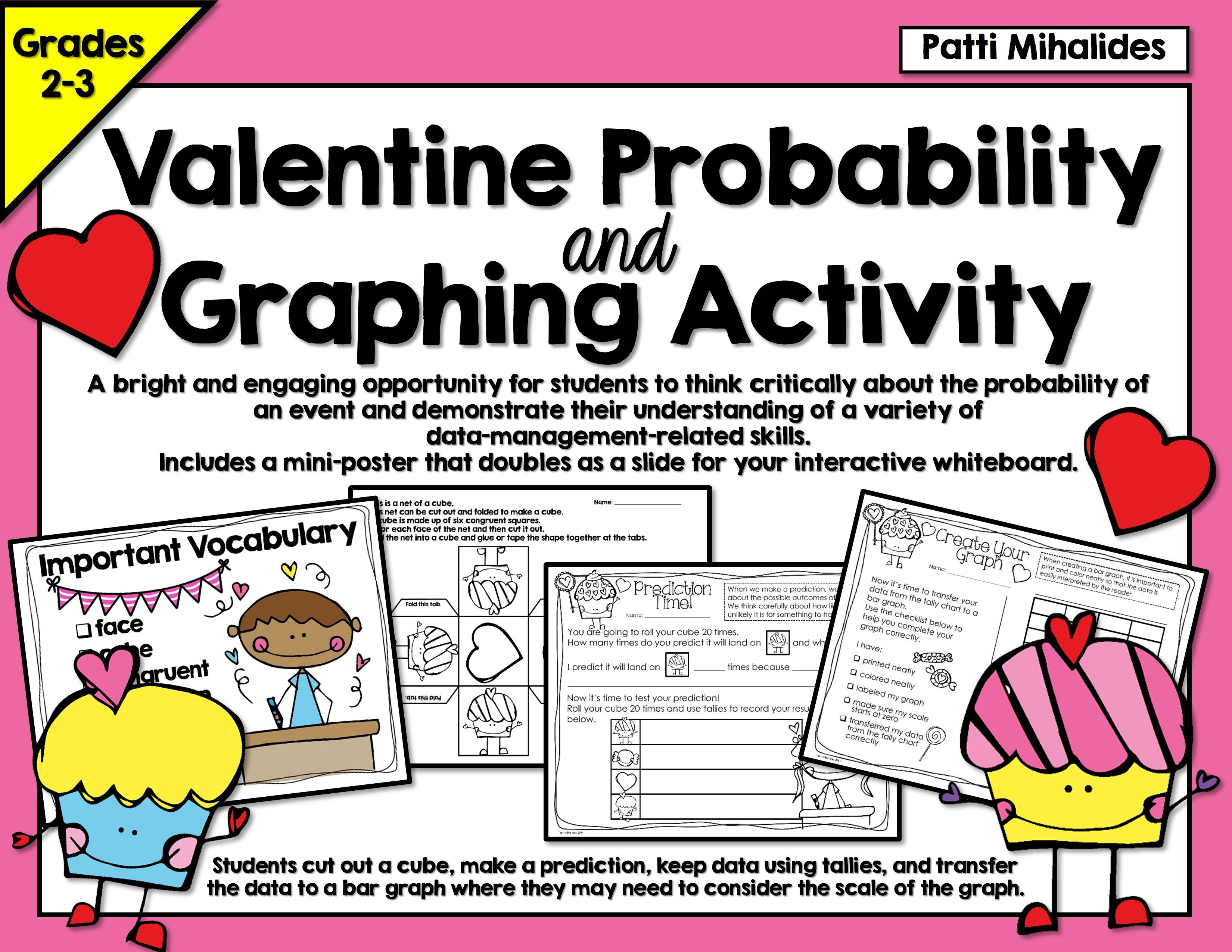 Valentine Probability And Graphing Activity Hands On Math