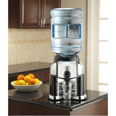Primo Tabletop Bottled Water Dispenser Black Chrome