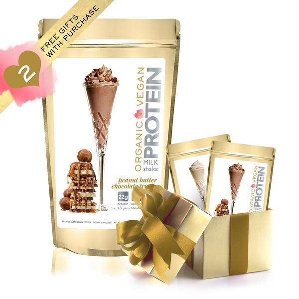 Protein Milkshake Vegan Peanut Butter Chocolate Truffle Protein Powder   1LB