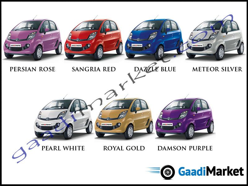 Nano Genx Colours Tata Colour Options Pinterest Tata