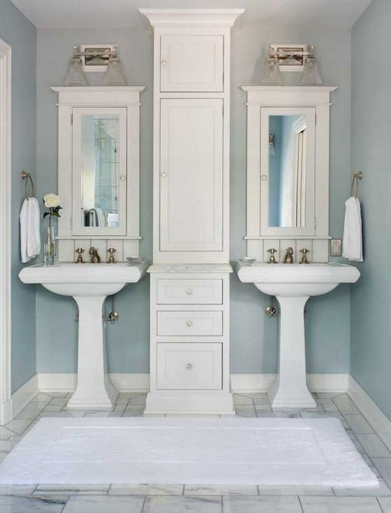 53 Amazing Modern Farmhouse Small Master Bathroom Ideas Small
