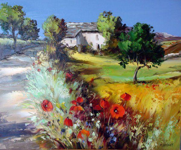 Michel Vezinet Peintre Au Couteau Peinture Peinture Fleurs