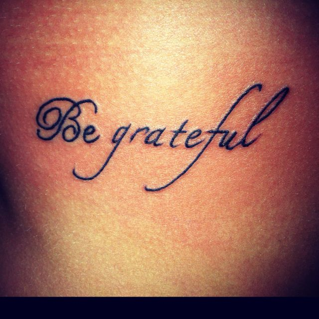 Be grateful <3 I know alot of people who should get this ...
