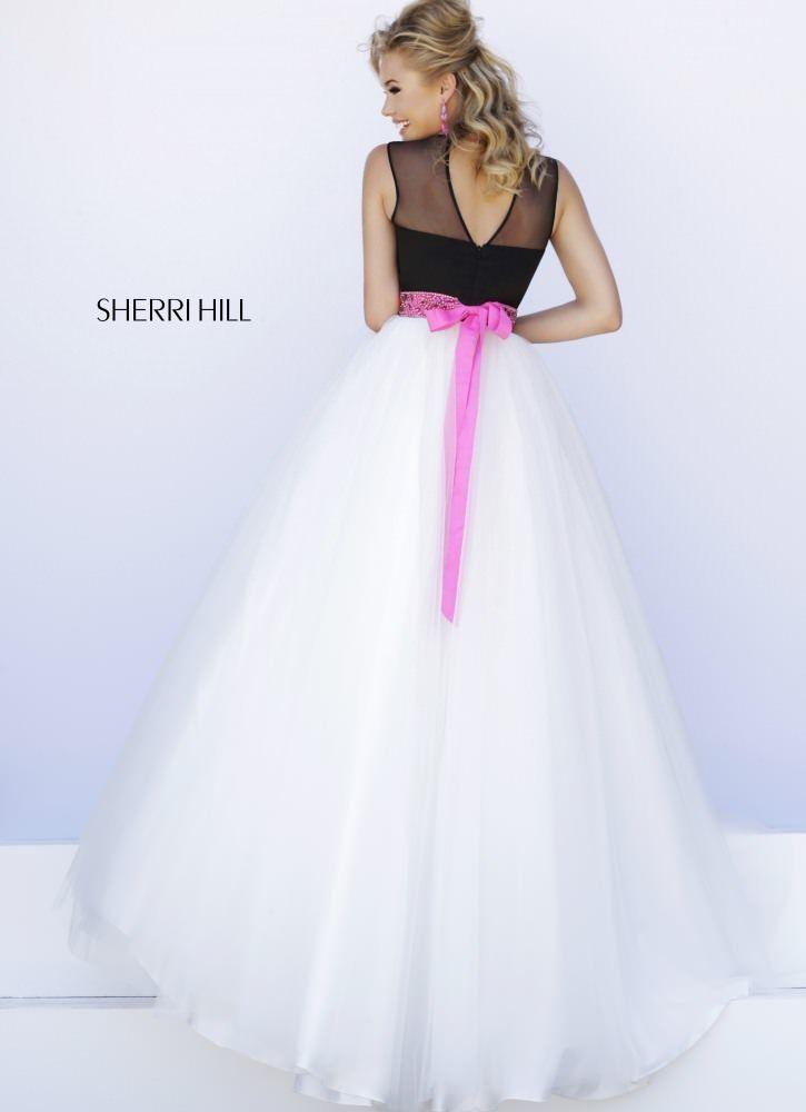 Sheer Bateau Neck Gown by Sherri Hill 32211