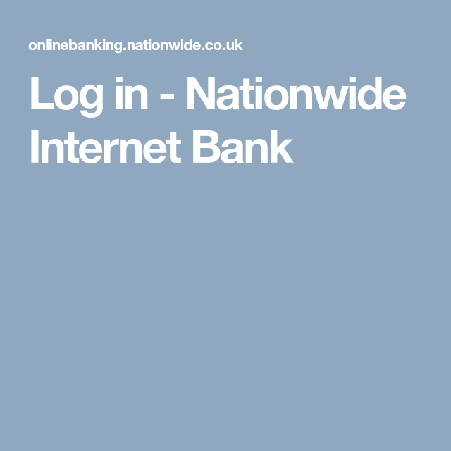 Log In Nationwide Internet Bank Managing Your Money