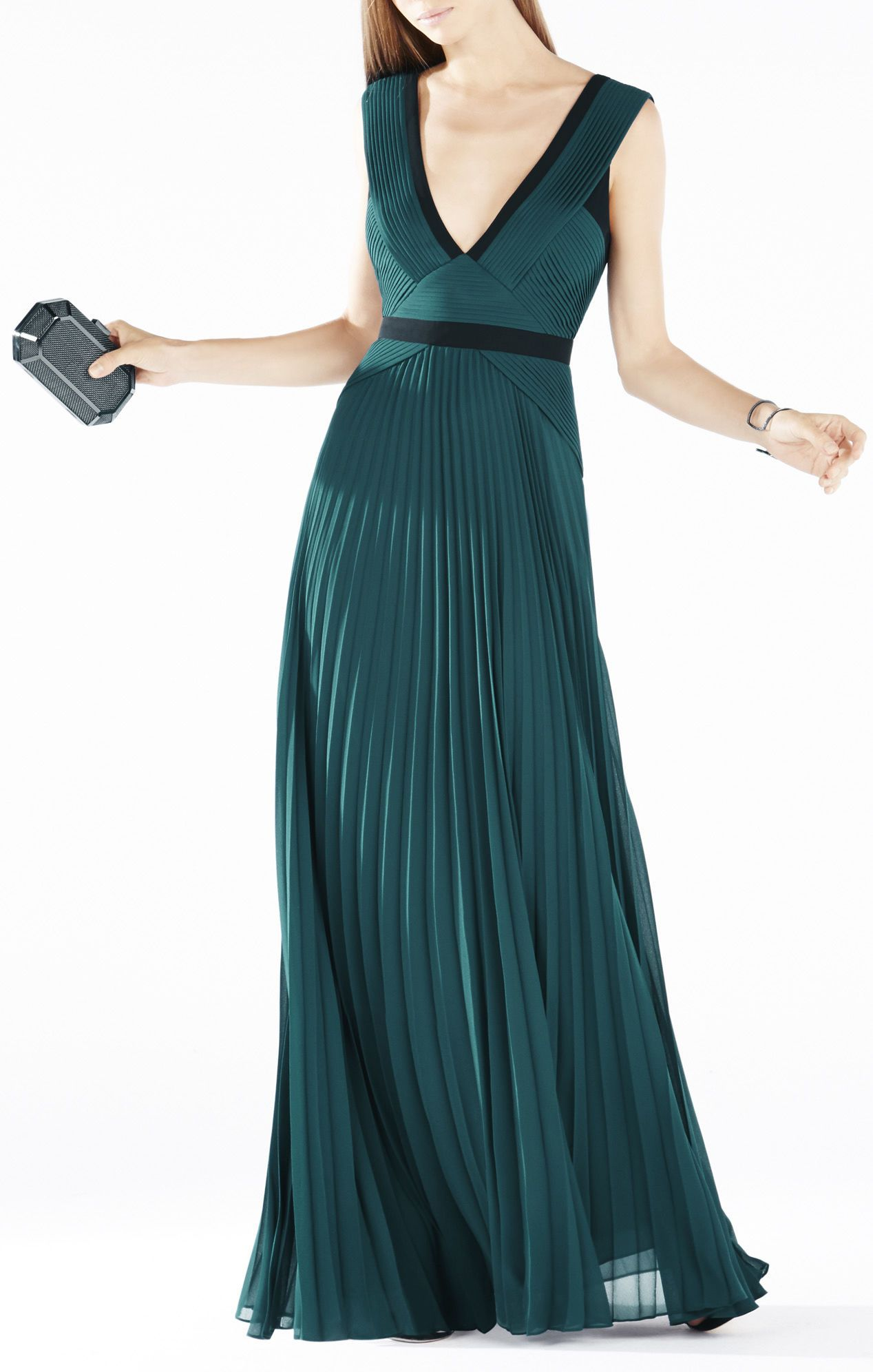 Evianna Color-Blocked Pleated Gown | Wicked ✳ | Pinterest | Color ...