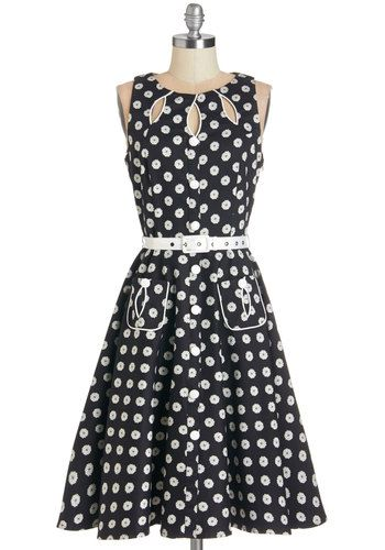 adbd34e5b4e 1950s polka dot dress. Swell-Heeled Dress in Floral A-line  99.99