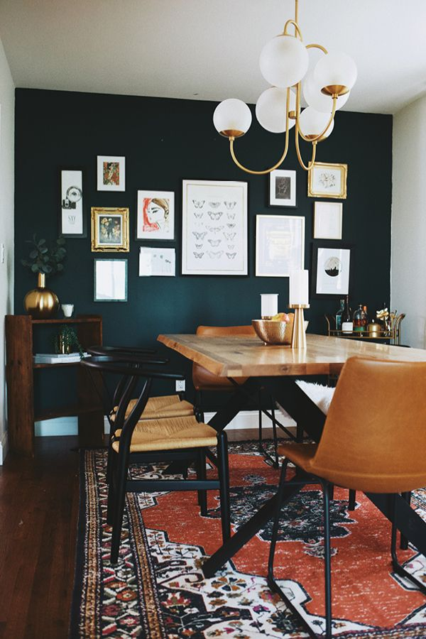 I Love The Oak Wood And Live Edge Planks And The Unique Steel Legs It Is So Sturdy And I Know We Wil Dining Room Colors Green Dining Room Dining Room #oak #living #room #tables