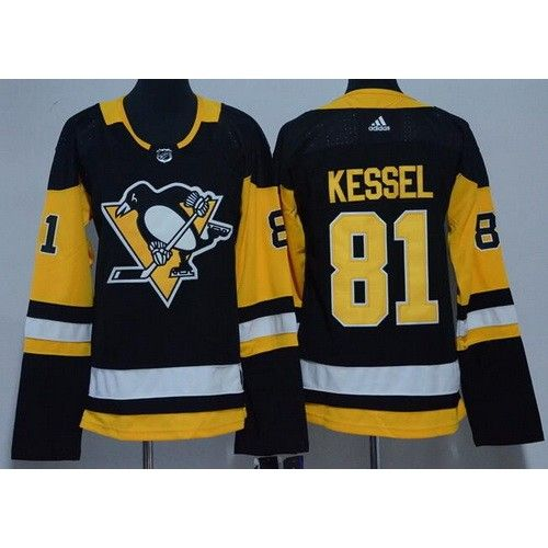 44cd8d70f Women s Pittsburgh Penguins  81 Phil Kessel Black Adidas Jersey ...